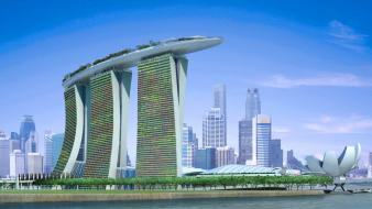 Cityscapes singapore marina bay sands Wallpaper