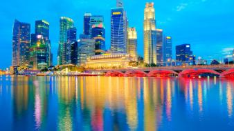 Cityscapes singapore wallpaper