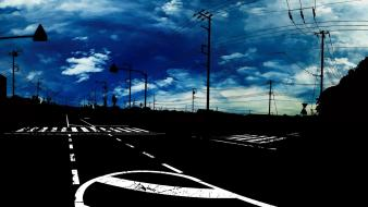 Clouds cityscapes streets urban roads artwork wallpaper