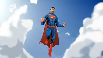 Clouds flying comics superman superheroes men artwork skies wallpaper