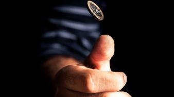 Coins hands euro action black background wallpaper