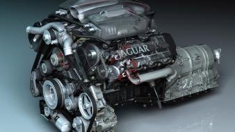 Engines jaguar type r 2005 engine wallpaper