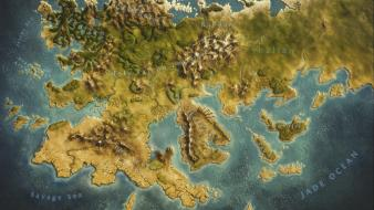 Fantasy art maps heroes of might and magic wallpaper