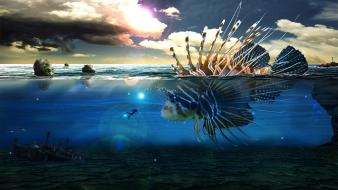 Fish magic underwater photo manipulation skies lanthemann wallpaper