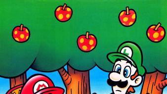 Forests mario super world luigi yoshi artwork wallpaper