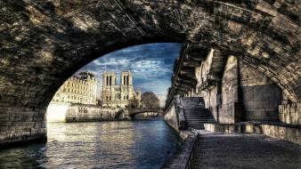 France bridges buildings notre dame seine cities wallpaper