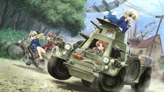 Girls ornaments bagpipes tea cup und panzer wallpaper