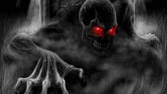 Horror creepy black death dark monsters gothic wallpaper
