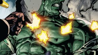 Hulk (comic character) guns comics marvel wallpaper