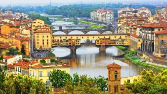 Landscapes cityscapes italy florence rivers wallpaper