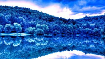 Landscapes forests cyan lakes forest wallpaper