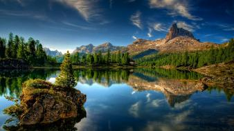 Landscapes nature lakes scene wallpaper