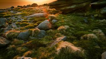 Landscapes nature rocks stones sunlight wallpaper
