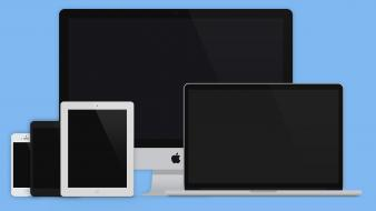 Laptops flat graphic layout responsive devices designers wallpaper