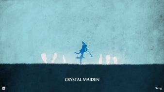 Minimalistic dota 2 crystal maiden wallpaper