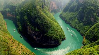 Mountains landscapes nature china rivers wallpaper