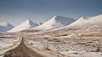 Mountains landscapes snow europe iceland roads wallpaper