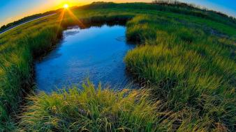 Nature sun fields national geographic fisheye effect wallpaper