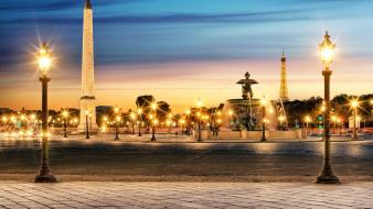 Paris cityscapes france obelisk evening luxor cities the wallpaper