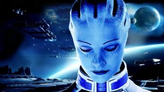 Planets ships mass effect liara tsoni wallpaper
