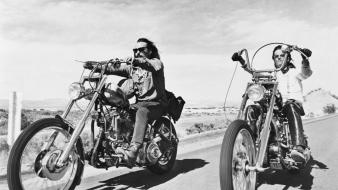 Rider monochrome dennis hopper choppers peter fonda wallpaper