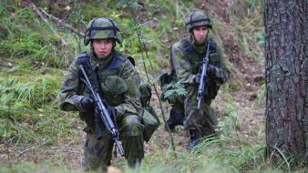 Scandinavia rk 95 finnish armed forces forest wallpaper