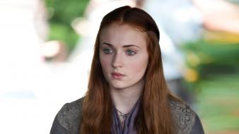 Series sansa stark faces sophie turner (actress) wallpaper