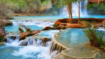 Turquoise creek canyonlands national park natural beauty Wallpaper