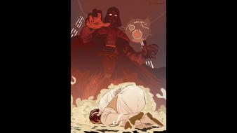 Vader science fiction george lucas lucasarts leah wallpaper