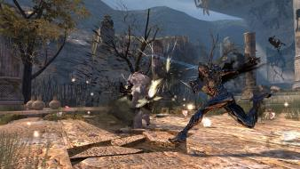 Video games screenshots vindictus boss battle wallpaper