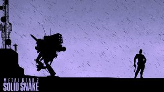 Video games silhouettes solid snake konami manipulations wallpaper