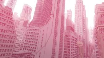 White pink comics artwork marvel avengers tower Wallpaper