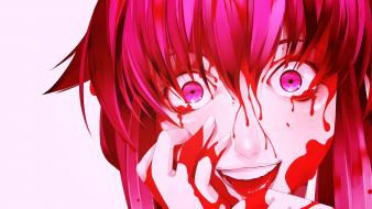 Yandere girls mirai nikki gasai yuno bloody wallpaper