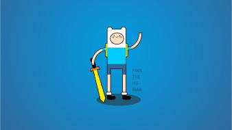 Adventure time artwork blue background stylized greenchay wallpaper