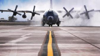 Aircraft ac-130 spooky/spectre c-130 hercules aviation ac-130u wallpaper
