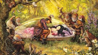 Art snow white dreams josephine wall mystical wallpaper
