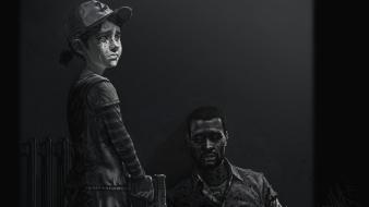 Artwork lee everret the (video game) clementine wallpaper
