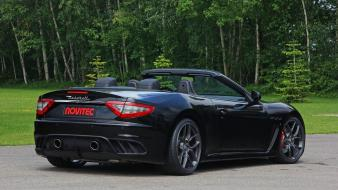 Black cars maserati grancabrio cabrio mc novitec tridente Wallpaper