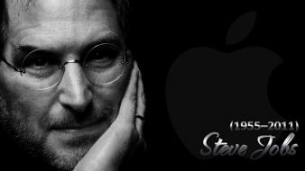 Black computers apple inc. mac steve jobs world Wallpaper