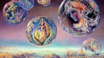 Bubbles art dreams josephine wall mystical sea wallpaper