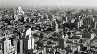Buildings monochrome historic aerial view old photography wallpaper