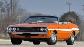Cars orange engines muscle dodge wheels american challanger Wallpaper
