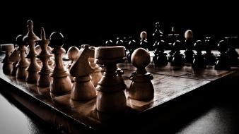 Chess board games pieces wallpaper