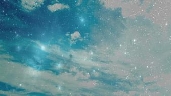 Clouds earth sky wallpaper