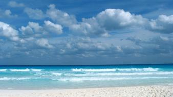 Clouds nature caribbean sea beach wallpaper