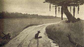 Creepy hanging artwork drawings alfred kubin wallpaper