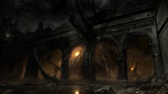 Dark alone in the fantasy art artwork wallpaper