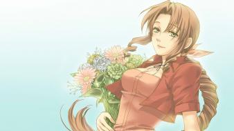 Final fantasy vii flowers aerith gainsborough aeris wallpaper