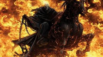 Fire ghost rider normal wallpaper