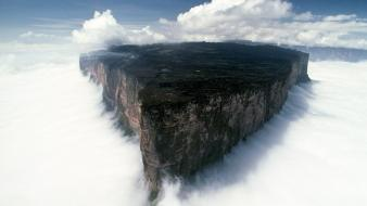 Forests rocks cliffs south america mount roraima Wallpaper